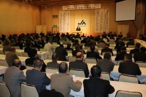 地元の米生産者ら230人が集結した「求めらる米・産地づくり推進大会」(3月5日/横手市内で)